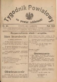 Tygodnik Powiatowy na Powiat Lubliniecki, 1928, nr 40