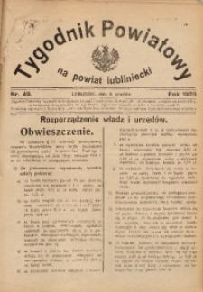 Tygodnik Powiatowy na Powiat Lubliniecki, 1928, nr 49