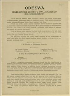 Odezwa Centralnego Komitetu Gwiazdkowego dla Legionistów