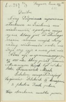 List Apolonii Machowej poszukującej syna legionisty Franciszka Macha - 22.03.1915