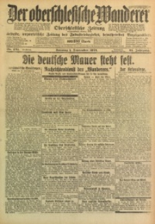 Der Oberschlesische Wanderer, 1918, Jg. 91, Nr. 201