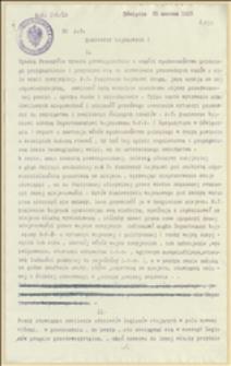 Pismo okólne Departamentu Wojskowego NKN omawiające sprawy organizacyjne komisarzy wojskowych po upadku twierdzy w Przemyślu i ewentualnej ewakuacji - 25.03.1915