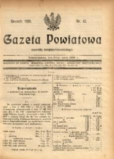 Gazeta Powiatowa Powiatu Świętochłowickiego, 1928, nr 12