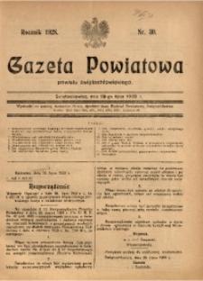 Gazeta Powiatowa Powiatu Świętochłowickiego, 1928, nr 30