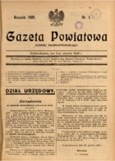 Gazeta Powiatowa Powiatu Świętochłowickiego, 1929, nr 1