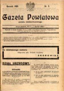 Gazeta Powiatowa Powiatu Świętochłowickiego, 1929, nr 3