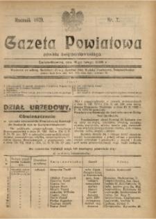 Gazeta Powiatowa Powiatu Świętochłowickiego, 1929, nr 7
