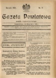 Gazeta Powiatowa Powiatu Świętochłowickiego, 1929, nr 12