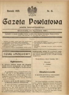 Gazeta Powiatowa Powiatu Świętochłowickiego, 1929, nr 15