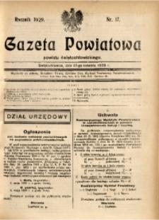 Gazeta Powiatowa Powiatu Świętochłowickiego, 1929, nr 17