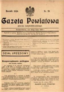 Gazeta Powiatowa Powiatu Świętochłowickiego, 1929, nr 29