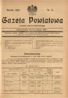 Gazeta Powiatowa Powiatu Świętochłowickiego, 1929, nr 31