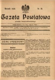 Gazeta Powiatowa Powiatu Świętochłowickiego, 1929, nr 35