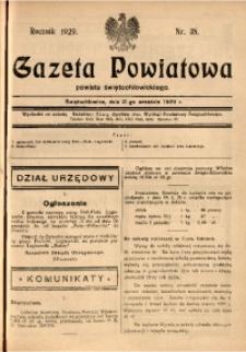 Gazeta Powiatowa Powiatu Świętochłowickiego, 1929, nr 38