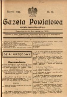 Gazeta Powiatowa Powiatu Świętochłowickiego, 1929, nr 40