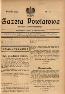 Gazeta Powiatowa Powiatu Świętochłowickiego, 1929, nr 44
