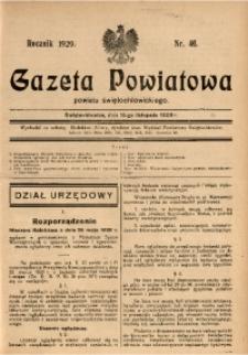 Gazeta Powiatowa Powiatu Świętochłowickiego, 1929, nr 46