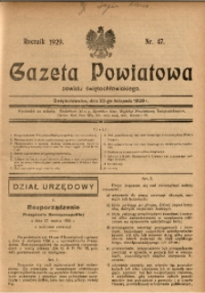 Gazeta Powiatowa Powiatu Świętochłowickiego, 1929, nr 47