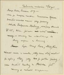 Notatki dotyczące warunków życiowych Marii Kurc ze Stonawy - 23.04.1915