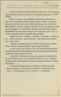 Program, zorganizowanego przez NKN w Wiedniu kursu wykładów ekonomiczno-społecznych w języku polskim od 01.05.1915