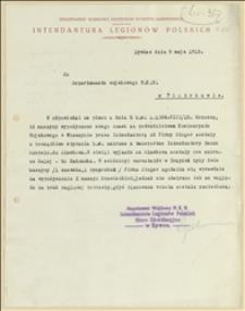 Korespondecja w sprawie uregulowania należności, względnie zwrotu wypożyczonych maszyn do szycia - 09.05.1915