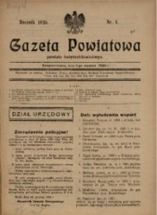 Gazeta Powiatowa Powiatu Świętochłowickiego, 1930, nr 1