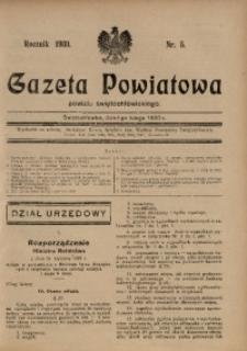 Gazeta Powiatowa Powiatu Świętochłowickiego, 1930, nr 5