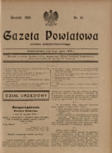 Gazeta Powiatowa Powiatu Świętochłowickiego, 1930, nr 11