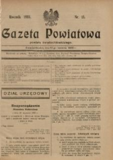 Gazeta Powiatowa Powiatu Świętochłowickiego, 1930, nr 15
