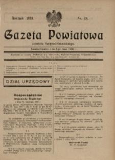 Gazeta Powiatowa Powiatu Świętochłowickiego, 1930, nr 18
