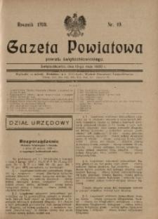 Gazeta Powiatowa Powiatu Świętochłowickiego, 1930, nr 19