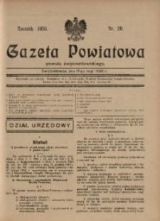 Gazeta Powiatowa Powiatu Świętochłowickiego, 1930, nr 20