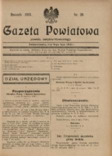 Gazeta Powiatowa Powiatu Świętochłowickiego, 1930, nr 29