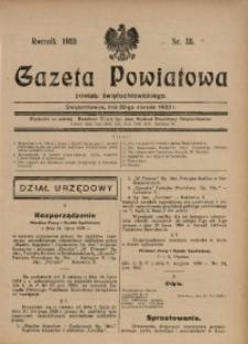 Gazeta Powiatowa Powiatu Świętochłowickiego, 1930, nr 35
