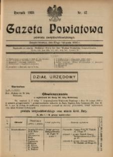 Gazeta Powiatowa Powiatu Świętochłowickiego, 1930, nr 47