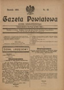 Gazeta Powiatowa Powiatu Świętochłowickiego, 1930, nr 49