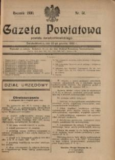 Gazeta Powiatowa Powiatu Świętochłowickiego, 1930, nr 51