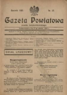 Gazeta Powiatowa Powiatu Świętochłowickiego, 1930, nr 52