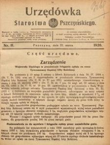Urzędówka Starostwa Pszczyńskiego, 1926, nr 11
