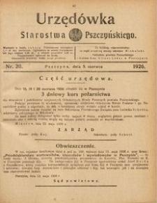 Urzędówka Starostwa Pszczyńskiego, 1926, nr 20