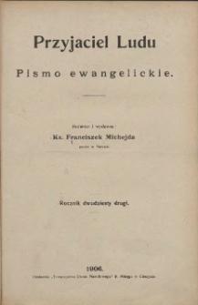 Przyjaciel Ludu, 1906, Nry 1-24