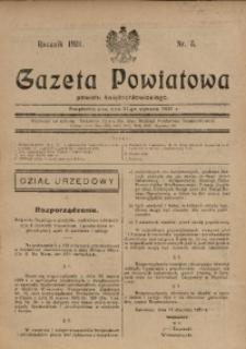 Gazeta Powiatowa Powiatu Świętochłowickiego, 1931, nr 5
