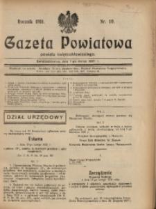 Gazeta Powiatowa Powiatu Świętochłowickiego, 1931, nr 10