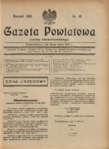 Gazeta Powiatowa Powiatu Świętochłowickiego, 1931, nr 13