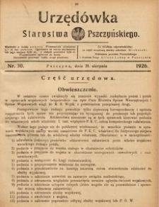 Urzędówka Starostwa Pszczyńskiego, 1926, nr 30