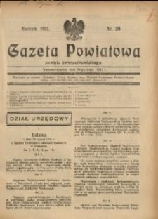 Gazeta Powiatowa Powiatu Świętochłowickiego, 1931, nr 20