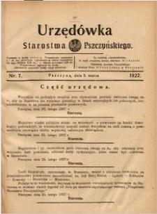 Urzędówka Starostwa Pszczyńskiego, 1927, nr 7