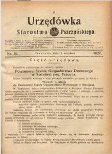 Urzędówka Starostwa Pszczyńskiego, 1927, nr 30