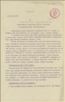 Odpis odezwy płk. Władysława Sikorskiego w związku ze zjazdem Komisarzy Wojskowych w dniach 08-09.05.1915 - 30.05.1915