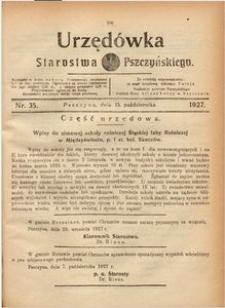 Urzędówka Starostwa Pszczyńskiego, 1927, nr 35
